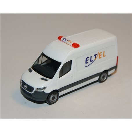 "AHM AH-732 Mercedes-Benz Sprinter `18 box type with high roof, white ""Eltel"""