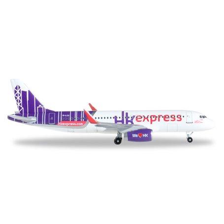 Herpa 528481 Flygplan Hong Kong Express Airbus A320
