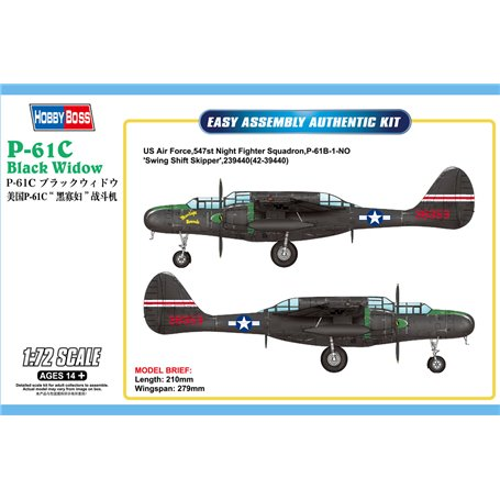 Hobby boss 87263 Flygplan P-61C Black Widow
