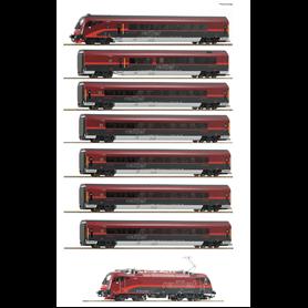 """Roco 74115 Tågset """"Railjet"""" typ ÖBB 8-delat"""