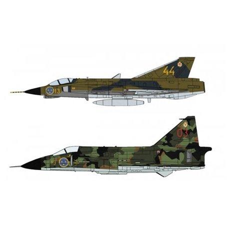 """Hasegawa 02281 Flygplan J35F Draken & SH37 Viggen """"F13 Wing"""""""