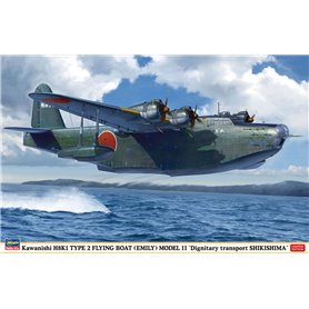 Hasegawa 02273 Flygplan Kawanishi H8K1 Type Flying Boat (Emily) Model 11 Dignitary transport Shikishima