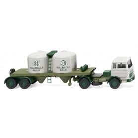 "Wiking 53403 Chemical semi-trailer (MB 1620) ""Walhalla Kalk"""