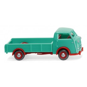 Wiking 33502 Tempo Matador low-side flatbed – turquoise