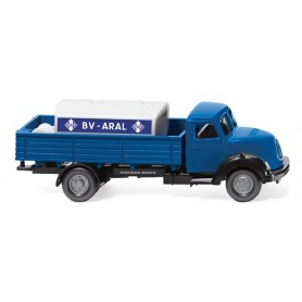 "Wiking 43803 Flatbed lorry w. trailer tank (Magirus Sirius) ""Aral"""