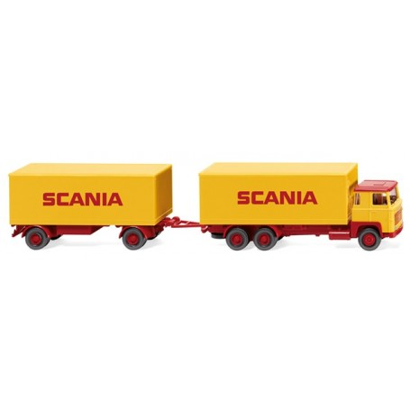 Wiking 45702 Box trailer road train (Scania 111) 'SCANIA'