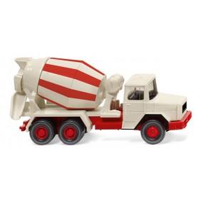 Wiking 68205 Concrete mixer (Magirus Deutz) red – cream white|red