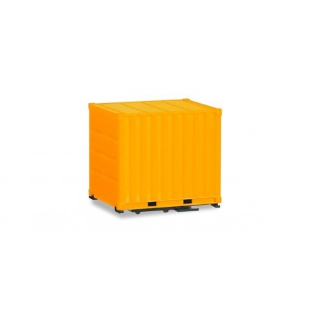 Herpa 053594-002 body 10 ft. Container with ground plate, yellow, 2 pieces