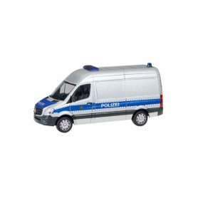 Herpa 094238 Mercedes-Benz Sprinter box high Roof 'Police Department saxony'