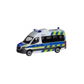 Herpa 094368 Mercedes-Benz Sprinter bus high Roof 'Police Department North Rhine-Westphalia'