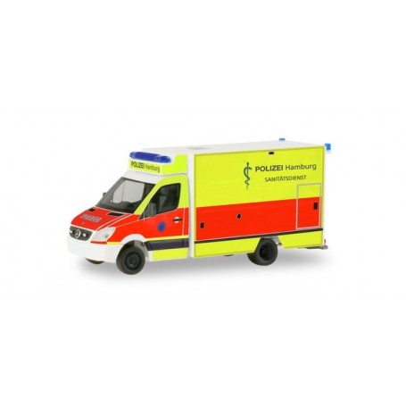 Herpa 094436 Mercedes-Benz Sprinter sprinter fahrtec ambulance 'Police Department Hamburg | Rescue Service'