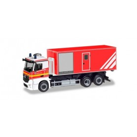 Herpa 094450 Mercedes-Benz Antos roll-off truck 'Voluntary fire brigade Norderstedt'