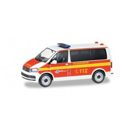 Herpa 094474 VW T6 Bus crew coach carrier 'Voluntary fire brigade Norderstedt'