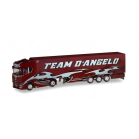 Herpa 309929 Scania CS 20 high roof refrigerated semitrailer 'Team D'Angelo' (I)