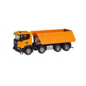 Herpa 309943 Scania CG 17 8×4 dump semitrailer, communal orange