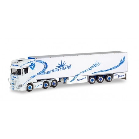 Herpa 309967 Scania CS 20 high roof 6×2 refrigerated semitrailer 'Trio-Trans'