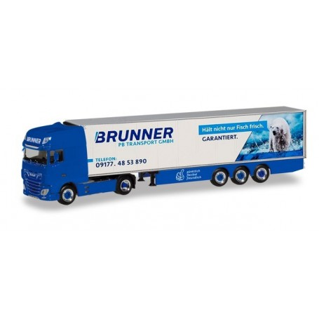 Herpa 310055 DAF XF SSC Euro 6 refrigerated semitrailer 'PB Transporte | Brunner'