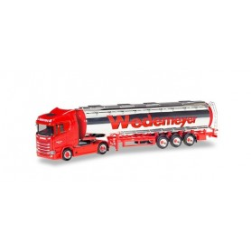 Herpa 310079 Scania CS 20 low roof chromium tank semitrailer 'Wedemeyer'