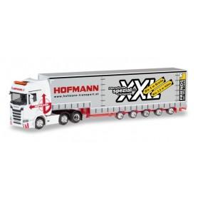 Herpa 310109 Scania CS 20 high roof 6×2 volume semitrailer 'Hofmann' (A)