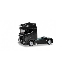 Herpa 310116 Scania CS20 high roof Trailer with light bar and bumper, black
