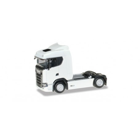 Herpa 310192 Scania CS 20 low roof tractor, white