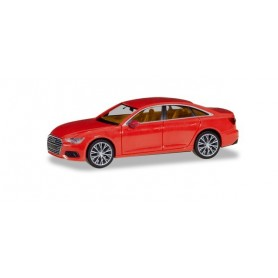 Herpa 430678 Audi A6 ® Limousine, flame red, with two-color rims