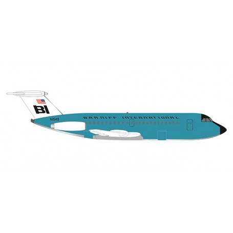 Herpa 533010 Flygplan Braniff International BAC 1-11-200 'Jelly bean Turquoise'