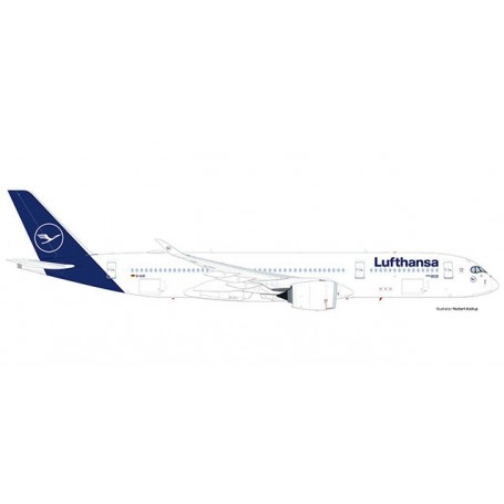 Herpa Wings 559577 Flygplan Lufthansa Airbus A350-900 - new colors