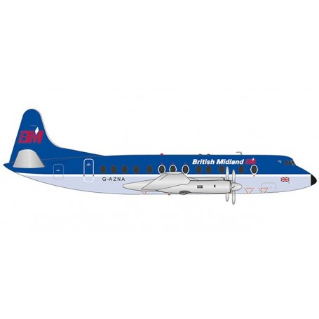 Herpa 559591 Flygplan British Midlands Vickers Viscount 800