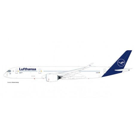Herpa Wings 612258 Flygplan Lufthansa Airbus A350-900