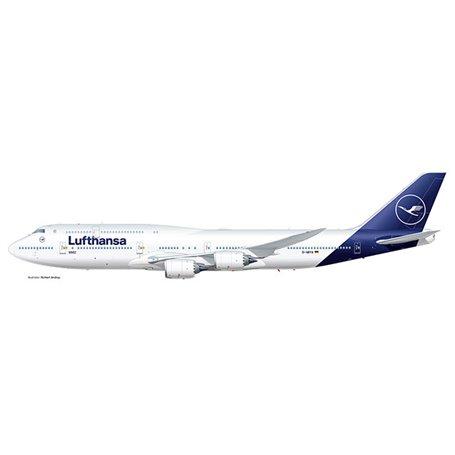 Herpa 531283 Flygplan Lufthansa Boeing 747-8 Intercontinental - new colors