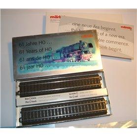 Märklin 6100 Märklin Metalllåda med 2 C-Räls 24188