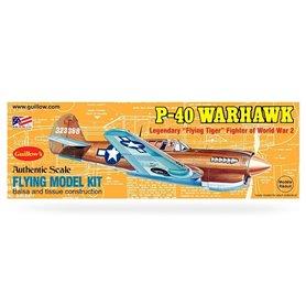 Guillows 501 Balsaflygplan P-40 Warhawk, byggsats i trä