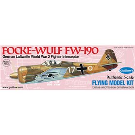 Guillows 502 Balsaflygplan Focke-Wulf FW-190, byggsats i trä