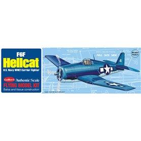 Guillows 503 Balsaflygplan Grumman F6F Hellcat, byggsats i trä