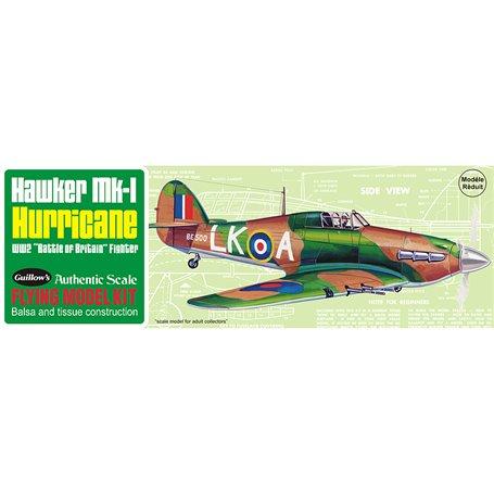 Guillows 506 Balsaflygplan Hawker Hurrican Mk-1, byggsats i trä