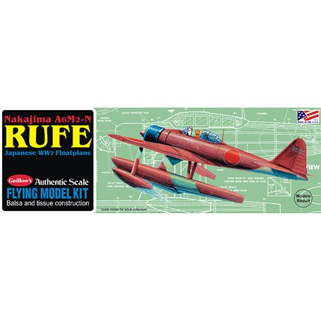 Guillows 507 Balsaflygplan Nakijima Rufe, byggsats i trä