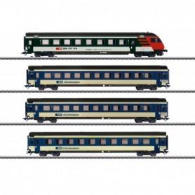 Märklin 42175 Vagnsset med 4 personvagnar 'MARK IV' typ SBB|CFF|FFS