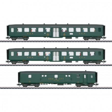 Märklin 43385 Vagnsset med 3 personvagnar typ SBB CFF FFS 'D96 Isar-Rhône' Set 2