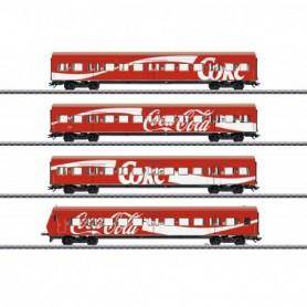 Märklin 43890 Vagnsset med 4 personvagnar typ DB AG 'S-Bahn' 'Coca Cola'