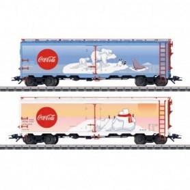Märklin 45687 Vagnsset med 2 godsvagnar 'Coca Cola'