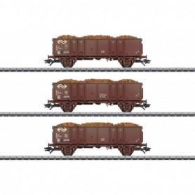 Märklin 46019 Vagnsset med 3 öppna godsvagnar typ NS