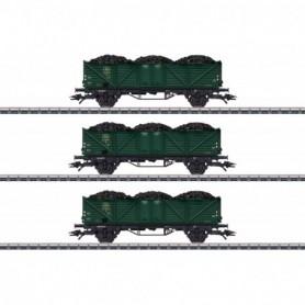 Märklin 46029 Vagnsset med 3 öppna godsvagnar typ SNCB|NMBS