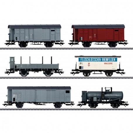 Märklin 46520 Vagnsset med 6 olika godsvagnar 'Köfferli' typ SBB|CFF|FFS