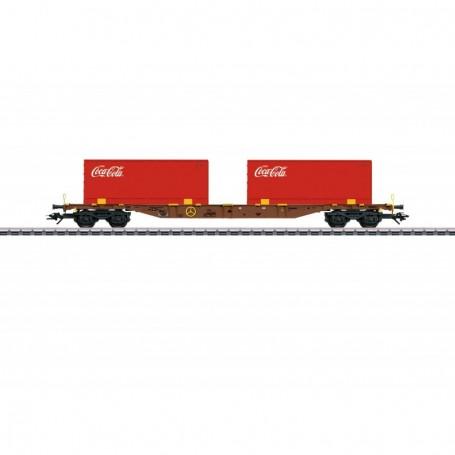 Märklin 47434 Flakvagn Sgns AAE Cargo AG med last av 2 containers 'Coca Cola'