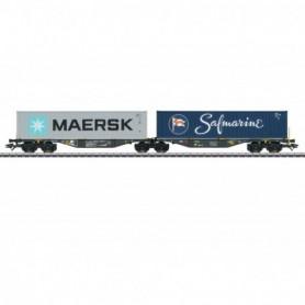 Märklin 47806 Flakvagn Sggrss RailReLease B.V. med last av containers 'Maersk|Safmarine'