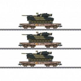 Märklin 48795 Vagnsset DSB med last av Tanks Leopard 1A5