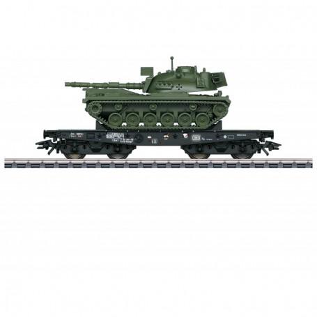 Märklin 48796 Tungtransportvagn Rlmmps typ DB med last av Tanks M 48