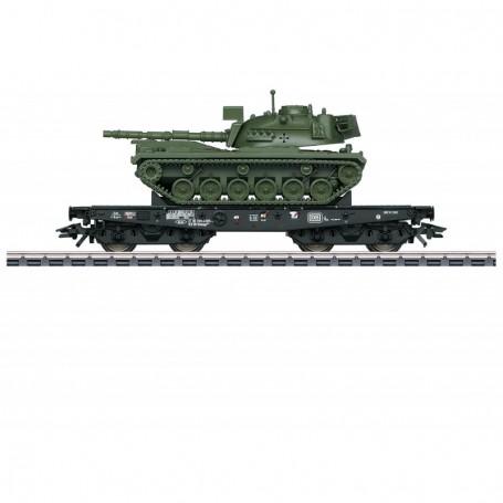 Märklin 48798 Tungtransportvagn Rlmmps typ DB med last av Tanks M 48