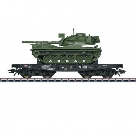 Märklin 48799 Tungtransportvagn Rlmmps typ DB med last av Tanks M 48